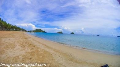 The long stretch of Nacpan beach