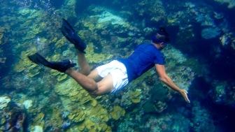 underwater passage to Secret beach