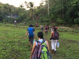 start trek to camp site