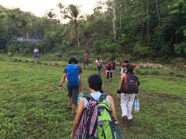 start trek to camp site