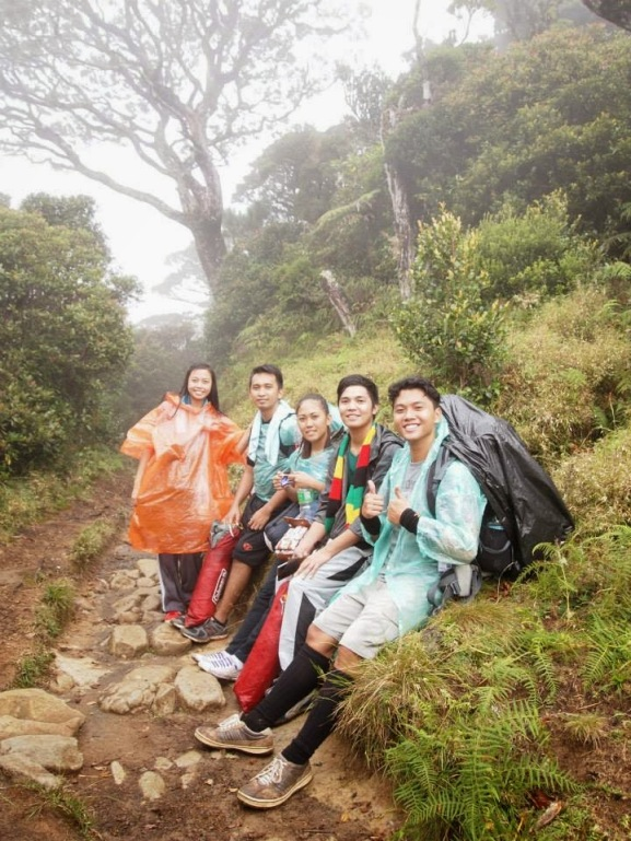 on our way to mount pulag campsite