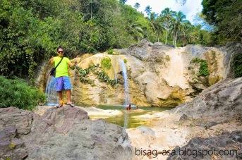 dried waterfall