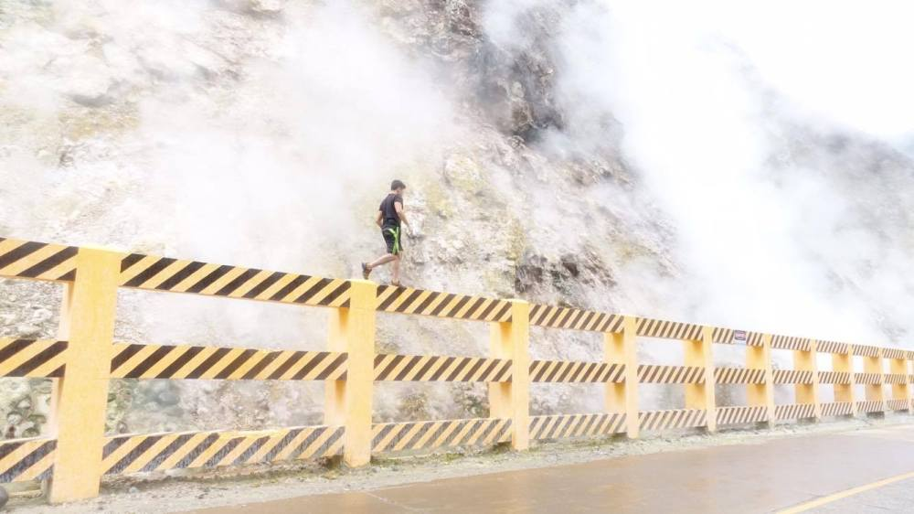 mag-aso steam vent near pulangbato waterfall