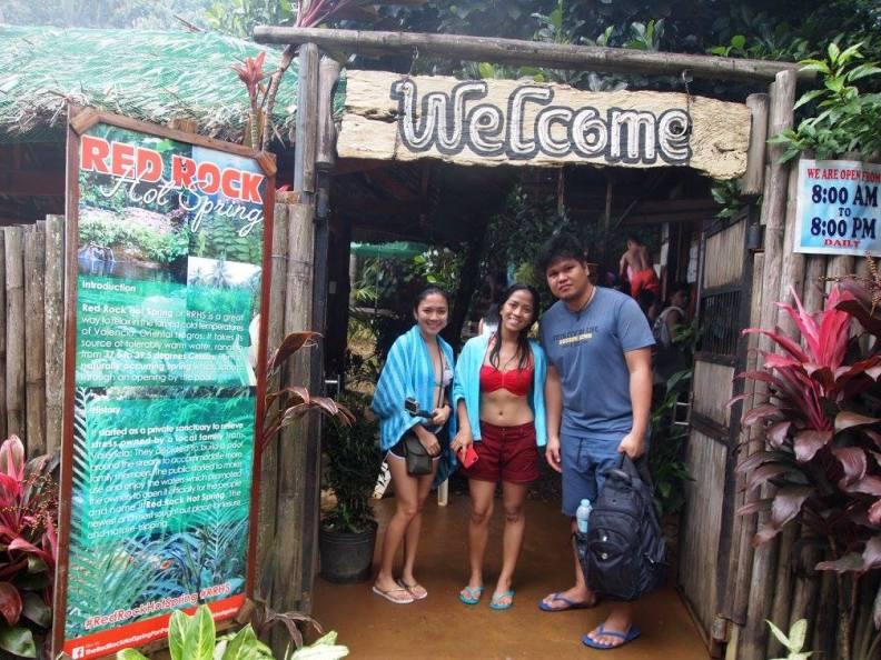 red rock hot spring entrance
